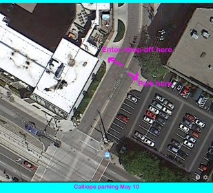 Parking Map for the Lyric