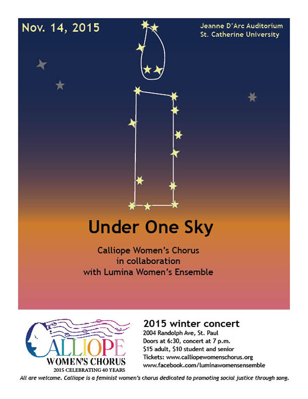 Under One Sky is Nov. 14 at St. Catherine University