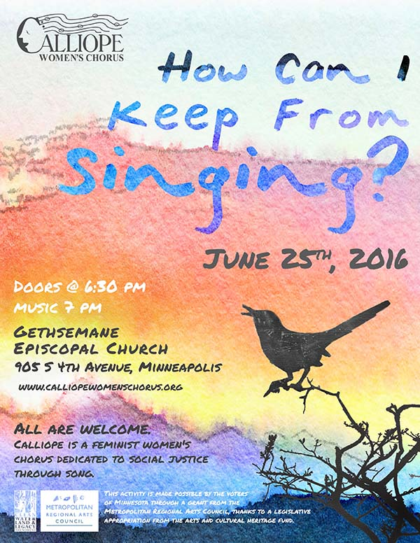 Join us June 25 at 7 p.m. for a GALA preview concert and reprise of a few favorites from How Can I Keep From Singing?